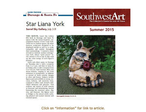 Southwest Art Article on July 2015 show