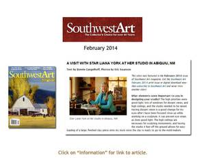 Southwest Art Magazine Article - Feb 2014
